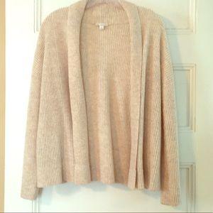 Gap oatmeal tuck stitch open cardigan size M